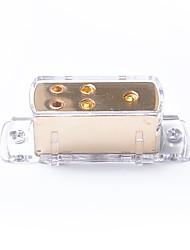 Недорогие -4-х полосная автомобильная аудиосистема с солнечными усилителями / блок разветвления кабеля питания / заземления 4ga