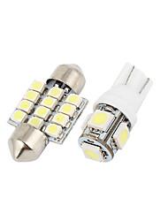 Недорогие -12шт светодиодные фонари белый интерьер купольная карта лампы комплект для Nissan Pathfinder 2005-2011 (7xt10-5-50505x31mm-12-3528)