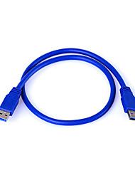 Недорогие -0,6 м высокоскоростной 4,8 Гбит / с USB 3,0 тип удлинитель USB типа «мужчина-мужчина»