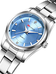 preiswerte -Damen Quartz Uhr Freizeit Modisch Silber Edelstahl Chinesisch Quartz Weiß Schwarz Rosa Neues Design Armbanduhren für den Alltag 1 Stück Analog Ein Jahr Batterielebensdauer