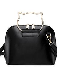 Χαμηλού Κόστους -Γυναικεία Τσάντες PU Τσάντα χειρός Συμπαγές Χρώμα Γκρίζο / Καφέ / Χακί