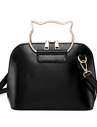 cheap -Women's Bags PU(Polyurethane) Top Handle Bag Solid Color Gray / Brown / Khaki
