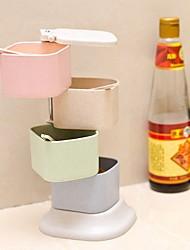 Недорогие -Высокое качество с Пластик / ABS Коробки для хранения Повседневное использование / Многофункциональный Кухня Место хранения 2 pcs