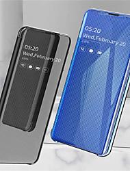 ieftine -Maska Pentru Samsung Galaxy Galaxy S10 Plus / Galaxy S10 E Cu Stand / Placare / Oglindă Carcasă Telefon Mată Greu PU piele pentru Galaxy S10 / Galaxy S10 Plus / Galaxy S10 E