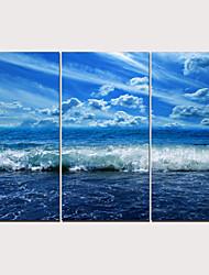 Недорогие -С картинкой Отпечатки на холсте - Пейзаж Традиционный Modern 3 панели Репродукции