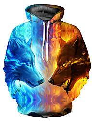 Недорогие -Муж. Классический Свободный силуэт толстовка с капюшоном куртки - 3D Капюшон