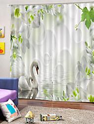 Недорогие -3d цифровая печать пользовательские пейзажи уединения полиэстер две панели занавес для наружной гостиной декоративные шторы