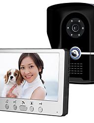 olcso -815fg11 ultra-vékony 7 hüvelykes vezetékes videó ajtócsengő hd villa egy videokonferencia kültéri egység éjjellátó eső feloldásához