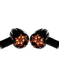Недорогие -2 шт. Мотоцикл в стиле ретро 2 цвета светодиодные указатели поворота огни индикаторы лампы универсального применения