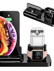 Недорогие -3 в 1 магнитная подставка для зарядки для iphone x iphone xs iphone xs max iphone 8 iphone 8plus / airpods / apple iwatch 4/3/2/1