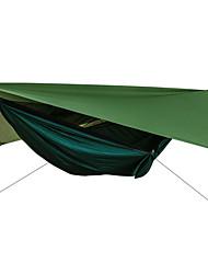Недорогие -Туристический гамак с москитной сеткой Защита гамака от дождя На открытом воздухе Защита от солнечных лучей Дышащий Ультралегкий (UL) Парашют Нейлон с карабинами и ремнями для 2 человека
