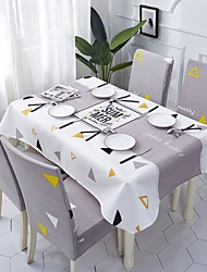 halpa -Nykyaikainen Antiikki Puuvilla polyesterikuitua Neliö Cube Table Cloths Table Linens Geometrinen Patterned Tulostus Ekologinen Vedenkestävä Pöytäkoristeet