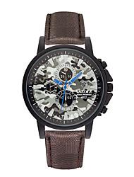 Недорогие -часы yazole разноцветные кожаные камуфляж цвет дизайн мужские часы