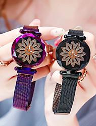 Недорогие -роскошные женские магнитные часы дамы счастливые цветы часы мода женские кварцевые наручные часы relogio feminino