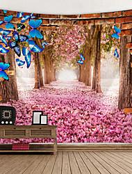 Недорогие -Сад / Цветы Декор стены 100% полиэстер Классика Предметы искусства, Стена Гобелены Украшение