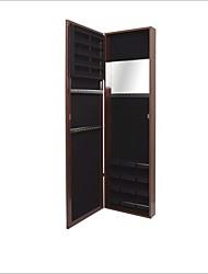Недорогие -настенный / дверной ювелирный шкаф / зеркало в полный рост с вишневым покрытием