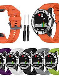 Недорогие -Спортивный силиконовый браслет ремешок для часов ремешок на запястье для Garmin Fenix 5S умные часы с инструментом