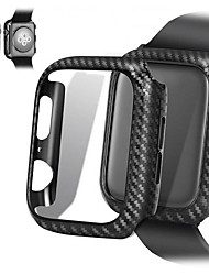 baratos -Caso para apple apple watch série 4/3/2/1 linhas de fibra de carbono ultra fino pc case quadro de proteção para apple watch series 4