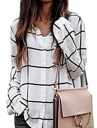 olcso -Női Blúz - Egyszínű Fehér US10