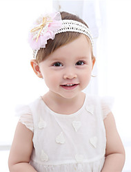 Недорогие -Дети (1-4 лет) / Новорожденный / Ребёнок до года Девочки Активный / Классический / Милая Однотонный / Цветочный принт Бант / Цветы / Стильные Хлопок / Кружева Аксессуары для волос