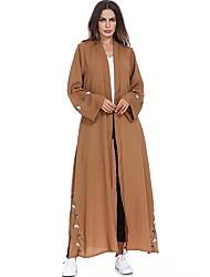 Χαμηλού Κόστους -Παραδοσιακή & Πολιτιστική Φορά Αμπάγια Γυναικεία Καθημερινά Ρούχα Πολυεστέρας Σχέδιο / Στάμπα Μακρυμάνικο Αμπάγια