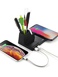 Недорогие -10 Вт быстрой зарядки ци беспроводное зарядное устройство настольных компьютеров с держателем ручки