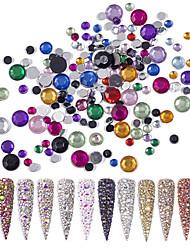 billige -6 pcs Nyt Design Rhinsten Pailletter Til Fingernegl Mode Negle kunst Manicure Pedicure Daglig / Festival Stilfuld / Sød