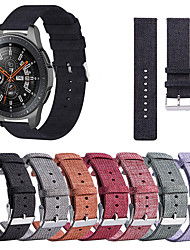 Недорогие -Нейлон тканый холст браслет часы ремешок на запястье для Samsung Galaxy часы 46 мм / Gear S3 Classic / Frontier Smart Watch