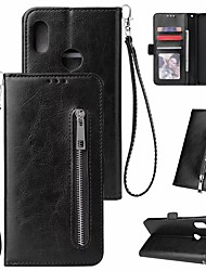 abordables -Funda Para Xiaomi Redmi Note 5 Pro / Xiaomi Redmi Note 7 Cartera / Soporte de Coche / Antigolpes Funda de Cuerpo Entero Un Color Dura Cuero de PU para Xiaomi Redmi Note 5 Pro / Xiaomi Redmi Note 5