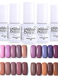 cheap -Nail Polish UV Gel  12 pcs Stylish / Glamour Soak off Long Lasting  Wedding Party / Daily Wear / Date Stylish / Glamour Fashionable Design / Bright Tone / Multi Color