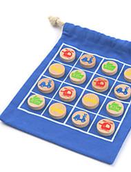preiswerte -Schachspiel Seltsame Spielzeuge Handgefertigt Eltern-Kind-Interaktion Oxford Tuch Kunstleder Kinder Baby Alles Spielzeuge Geschenk 10 pcs