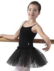 Χαμηλού Κόστους -Παιδικά Ρούχα Χορού / Μπαλέτο Φορέματα Κοριτσίστικα Εκπαίδευση Βαμβάκι Διαφορετικά Υφάσματα Αμάνικο Φόρεμα