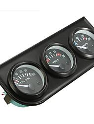 Недорогие -2 дюйма 52 мм давление масла вольт воды температура 3 комплекты электронных датчиков 8-16 В светодиодный авто автомобиль