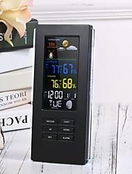 Недорогие -Точность ts-74 беспроводной цифровой термометр в помещении наружная температура подсветка дисплея часы метеостанция eu plug / us plugblack