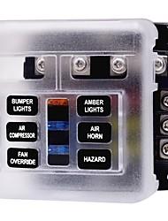 Недорогие -6 блок лезвия держатель блока предохранителей для 32 В автомобиль грузовик лодка морской автобус автомобильный