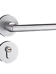 Недорогие -серебристо-белый европейский простое пространство алюминий сплошной дверной замок в помещении спальня деревянная дверь механический аппаратный замок