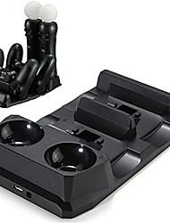 olcso -4-in-1 vezérlő töltő függőleges konzol a PS4 töltőkészletekhez / állványhoz