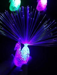 Недорогие -1 шт. Ночь праздничные атрибуты павлин палец свет красочные светодиодные кольца светящиеся дети детские игрушки ночной вокал концерт гаджеты украшения 5 В