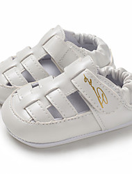 billige -Drenge / Pige PU Sandaler Spædbørn (0-9m) / Toddler (9m-4ys) Første gåsko Hvid / Sort / Mørkeblå Sommer