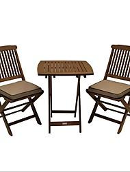 Недорогие -3-х частей стиль бистро открытый патио мебель стул столовый набор с подушками