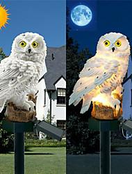 Недорогие -1 шт. Светодиодные садовые фонари солнечная сова форма ночные огни на солнечных батареях газон лампы домашний сад творческий солнечные лампы