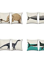 Недорогие -1 штук Лён Наволочка, 3D Современный стиль Классика Мода Бросить подушку