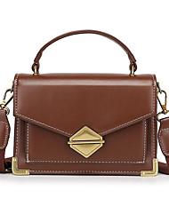 Χαμηλού Κόστους -Γυναικεία Τσάντες PU Τσάντα χειρός Συμπαγές Χρώμα Αμύγδαλο / Καφέ / Κρασί