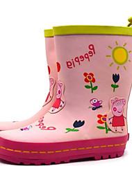 olcso -Lány Gumi Csizmák Kis gyerekek (4-7 év) / Nagy gyerekek (7 év +) Esőcsizmák Rózsaszín Tavasz / Magas szárú csizmák