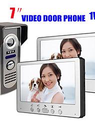 olcso -815m12 ultra-vékony, 7 hüvelykes vezetékes videó ajtócsengő hd villa videó kaputelefon kültéri egység éjjellátó eső feloldó funkció