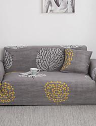 Недорогие -чехлы на диван чехлы из окрашенной пряжи полиэстера / хлопка / стильные серые ветки / чехол для дивана