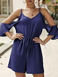 abordables -Mujer Wine Azul claro Caqui Mono, Un Color M L XL