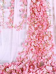 Недорогие -Искусственные Цветы 1 Филиал Классический Сценический реквизит Свадьба Гортензии Сакура Цветы на стену