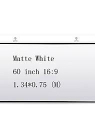 Недорогие -16:9 60 дюймовый MaxWhite Экран с креплением на стену