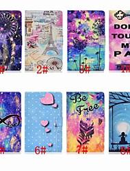 Недорогие -Кейс для Назначение SSamsung Galaxy Samsung Tab A 10.1 (2019) T510 Бумажник для карт / Защита от удара / со стендом Чехол Цвет неба / Мультипликация / Перья Твердый Кожа PU
